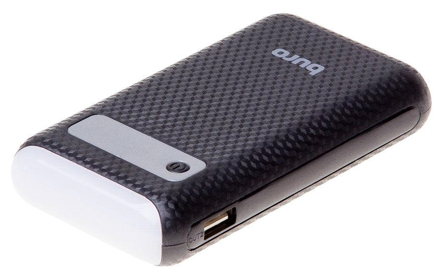 Внешний аккумулятор BURO RC-7500A-B,  7500мAч,  черный