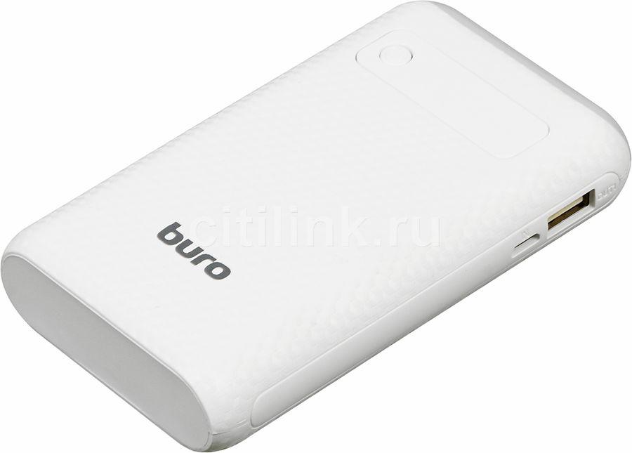 Внешний аккумулятор BURO RC-7500A-W,  7500мAч,  белый