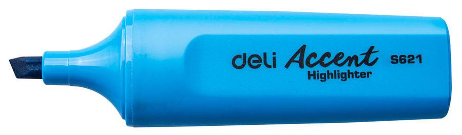 Текстовыделитель Deli Accent ES621BLUE Delight скошенный пиш. наконечник 1-5мм синий