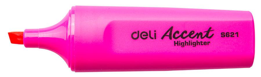 Текстовыделитель Deli Accent ES621PINK Delight скошенный пиш. наконечник 1-5мм розовый
