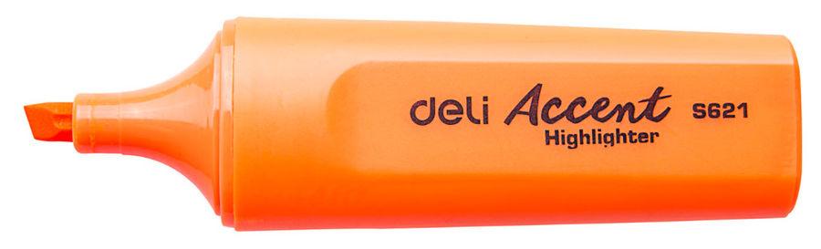 Текстовыделитель Deli Accent ES621ORANG Delight скошенный пиш. наконечник 1-5мм оранжевый
