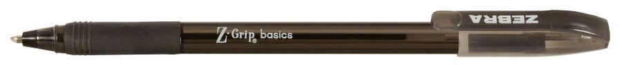 Ручка шариковая Zebra Z-GRIP BASICS 1мм треугол. резин. манжета черный