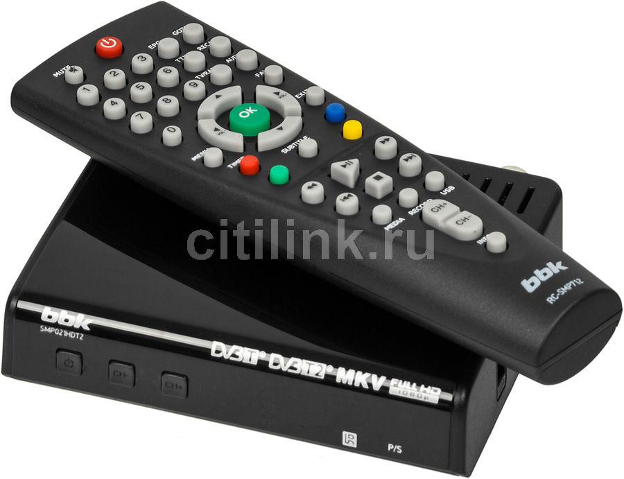 Ресивер DVB-T2 BBK SMP021HDT2,  черный