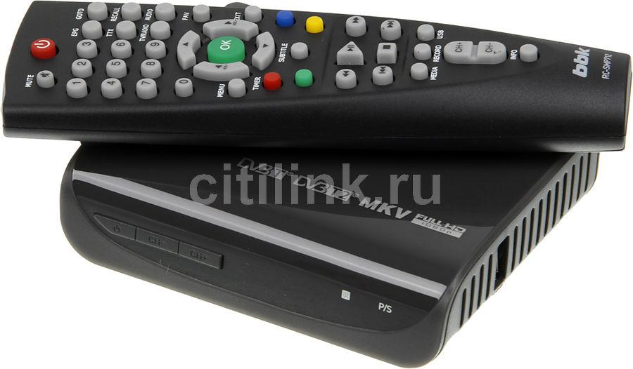 Ресивер DVB-T2 BBK SMP022HDT2,  темно-серый