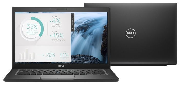 Ноутбук DELL Latitude 7480, 14, Intel Core i7 7600U 2.8ГГц, 8Гб, 512Гб SSD, Intel HD Graphics 620, Windows 10 Professional, черный [7480-8685]Ноутбуки<br>экран: 14; cенсорный экран; разрешение экрана: 2560х1440; тип матрицы: IPS; процессор: Intel Core i7 7600U; частота: 2.8 ГГц (3.9 ГГц, в режиме Turbo); память: 8192 Мб, DDR4; SSD: 512 Гб; Intel HD Graphics 620; WiFi;  Bluetooth; HDMI; WEB-камера; Windows 10 Professional<br><br>Линейка: Latitude