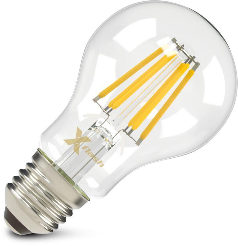 Лампа X-FLASH XF-E27-FL-A60-6W-2700K-230V, 6Вт, 700lm, 10000ч,  2700К, E27,  1 шт. [47659]