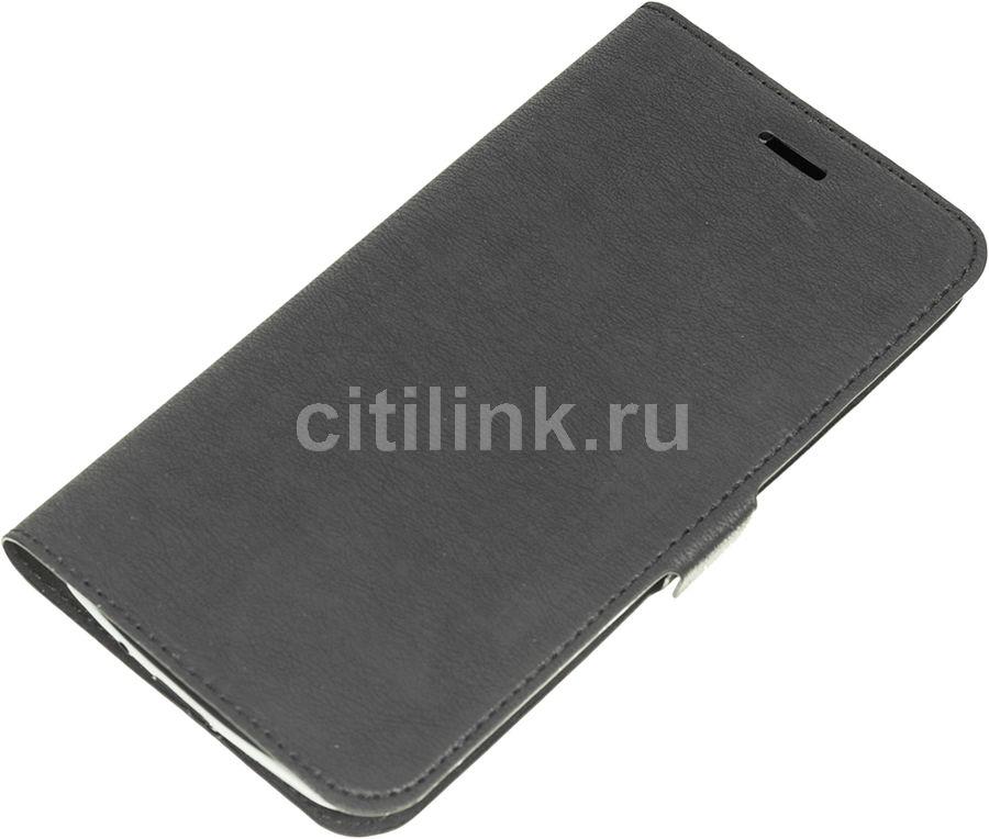 Чехол (флип-кейс) DF aFlip-09, для Asus ZenFone Go ZB500KG, черный