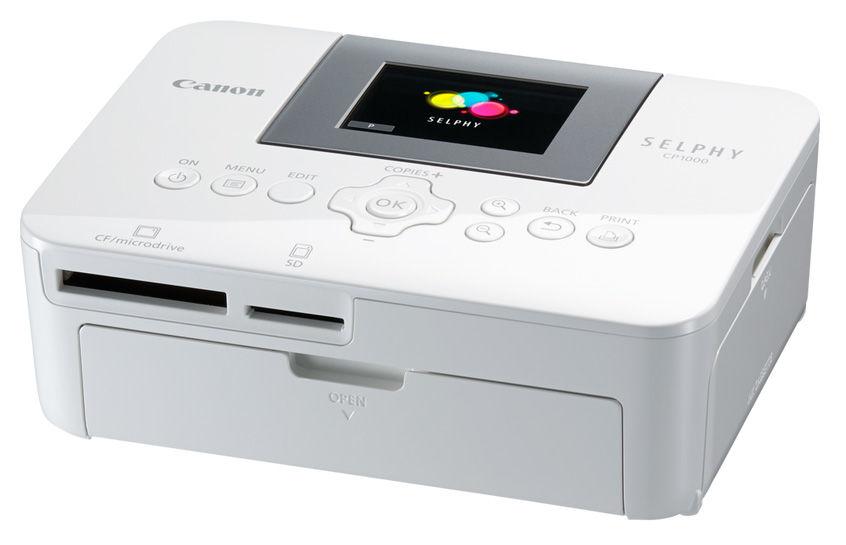 Компактный фотопринтер CANON Selphy CP1000, белый. Доставка по России