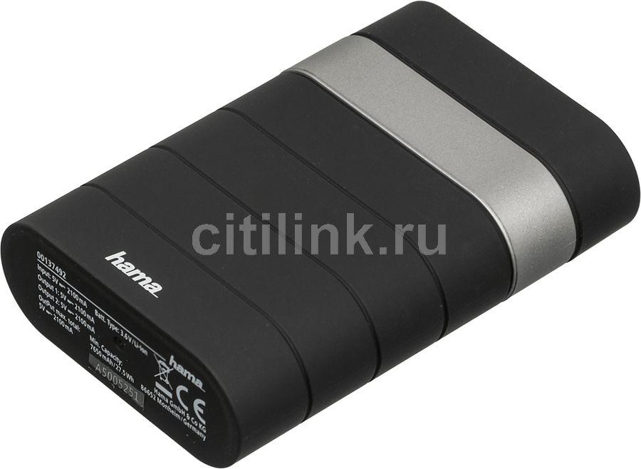 Внешний аккумулятор (Power Bank) HAMA Joy,  7800мAч,  черный [00137492]