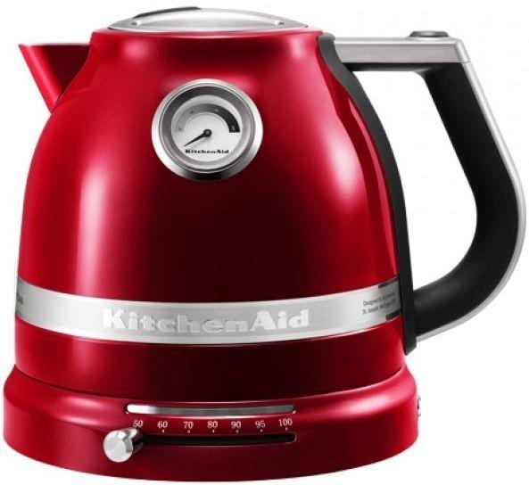 Чайник электрический KITCHENAID 5KEK1522, 2400Вт, серебристый матовый и карамельное яблоко