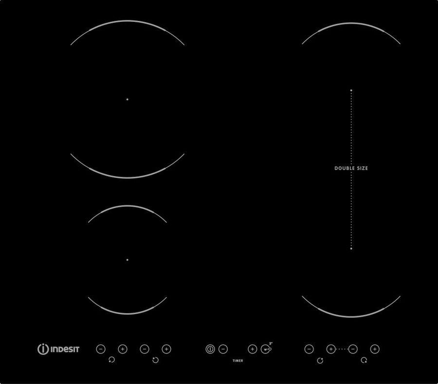 Индукционная варочная панель INDESIT VID 641 B C,  индукционная,  независимая,  черный