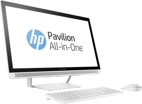 Моноблок HP 27-a256ur, Intel Core i5 7400T, 8Гб, 1000Гб, Intel HD Graphics 630, DVD-RW, Windows 10, белый [1ax09ea]