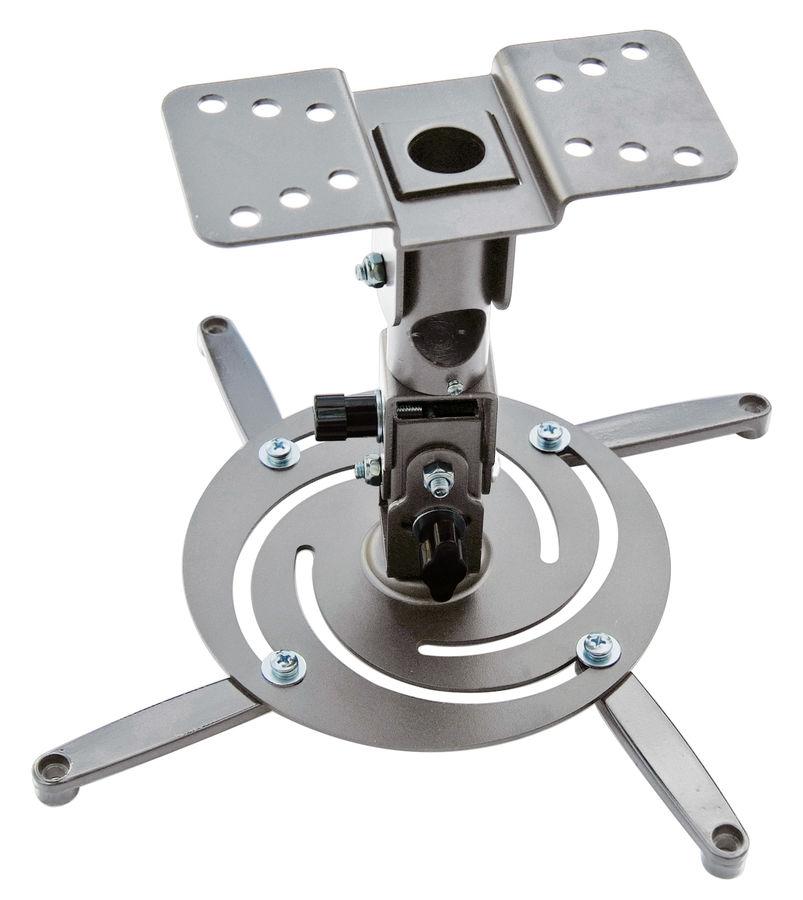 Кронштейн для проектора Cactus CS-VM-PR04-AL серебристый макс.22кг настенный и потолочный поворот и