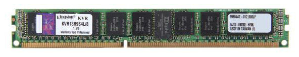Память DDR3L Kingston KVR13R9S4L/8 8Gb DIMM ECC Reg VLP PC3-10600 CL9 1333MHz