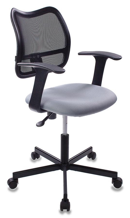 Кресло БЮРОКРАТ CH-797M, на колесиках, ткань, серый [ch-797m/15-48]