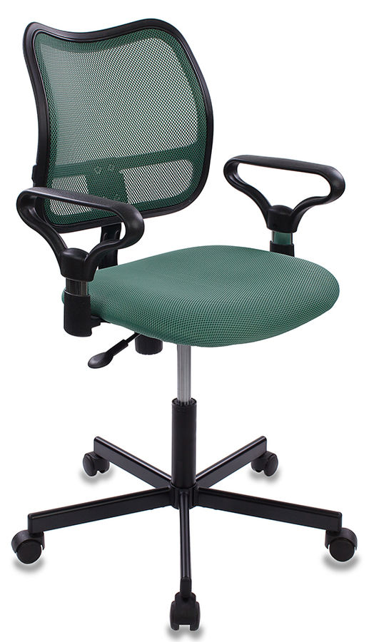 Кресло БЮРОКРАТ CH-799M, на колесиках, ткань, зеленый [ch-799m/gr/tw-30]