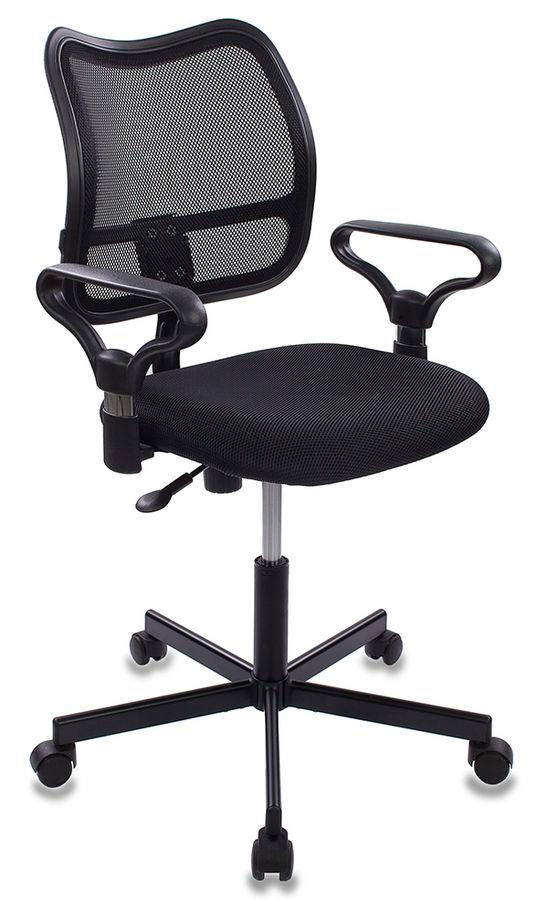 Кресло БЮРОКРАТ CH-799M, на колесиках, ткань, черный [ch-799m/tw-11]