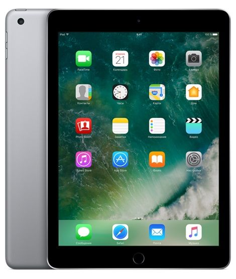 Планшет APPLE iPad 128Gb Wi-Fi + Cellular MP262RU/A, 2GB, 128GB, 3G, 4G, iOS темно-серый