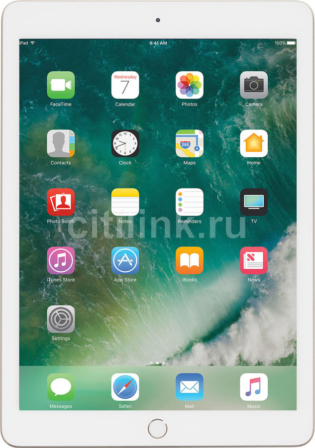 Планшет APPLE iPad 128Gb Wi-Fi MPGW2RU/A, 2GB, 128GB, iOS золотистый