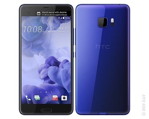 Смартфон HTC U Ultra 64Gb, синий аксессуар чехол htc u ultra brosco black htc uu book black
