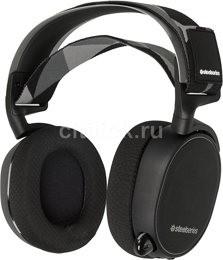 Наушники с микрофоном STEELSERIES Arctis 7,  мониторы, радио,  черный  [61463]