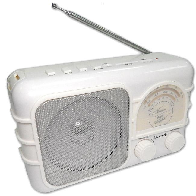 Радиоприемник СИГНАЛ Luxele РП-111,  белый
