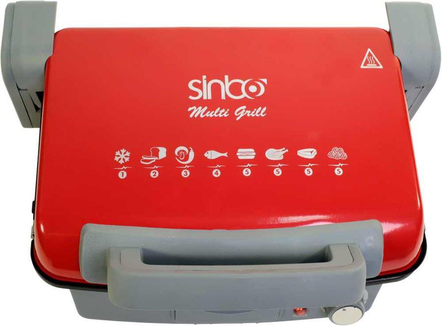 Электрогриль SINBO SSM 2536,  красный и черный