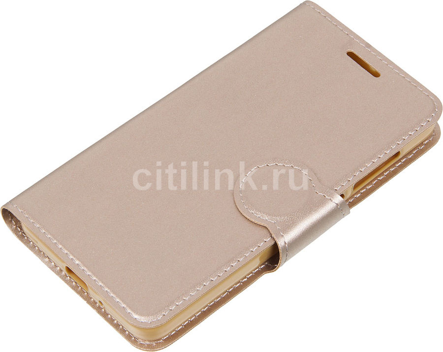 Чехол (клип-кейс) REDLINE Book Type, для Xiaomi Redmi 4A, золотистый [ут000010589]