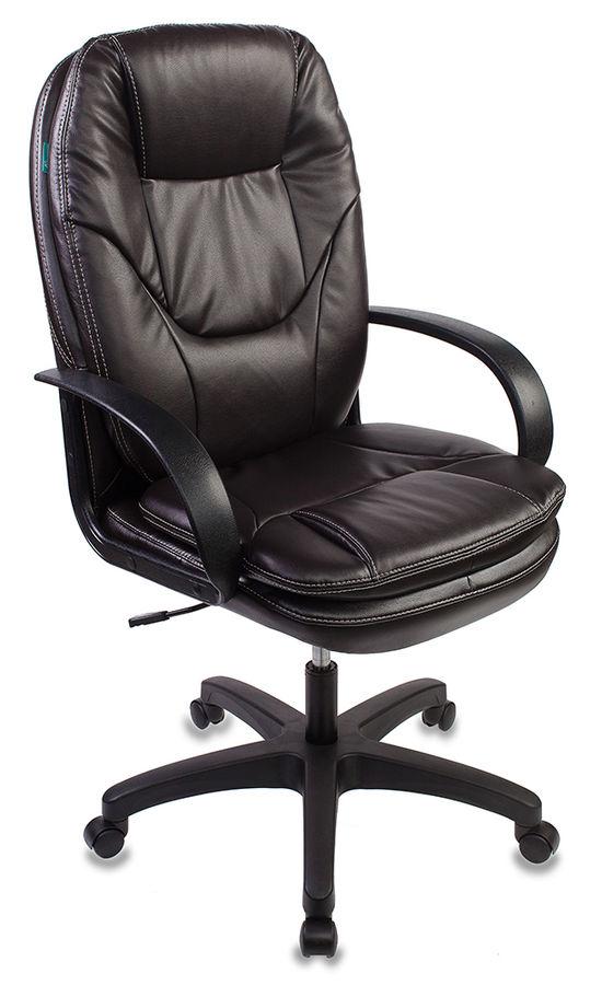 Кресло руководителя БЮРОКРАТ CH-1868, на колесиках, искусственная кожа, темно-коричневый [ch-1868/coffee]