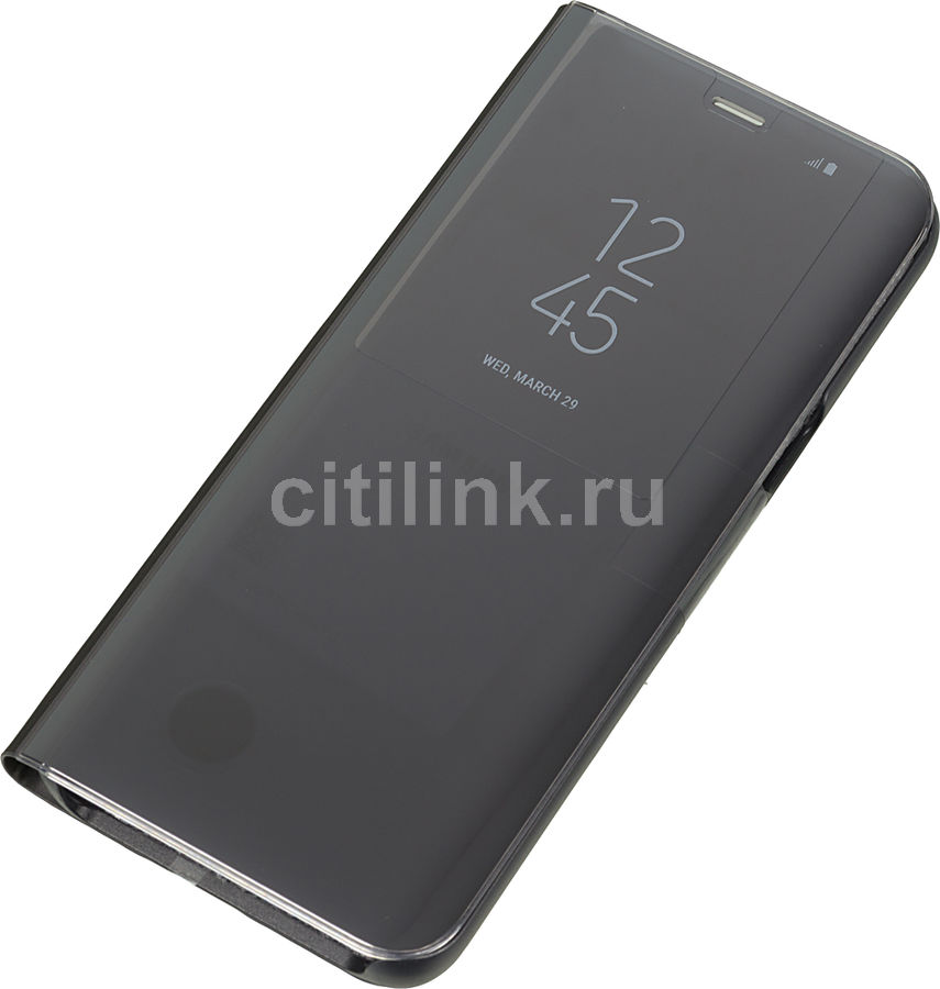 Чехол (флип-кейс) SAMSUNG Clear View Standing Cover, для Samsung Galaxy S8+, черный [ef-zg955cbegru]
