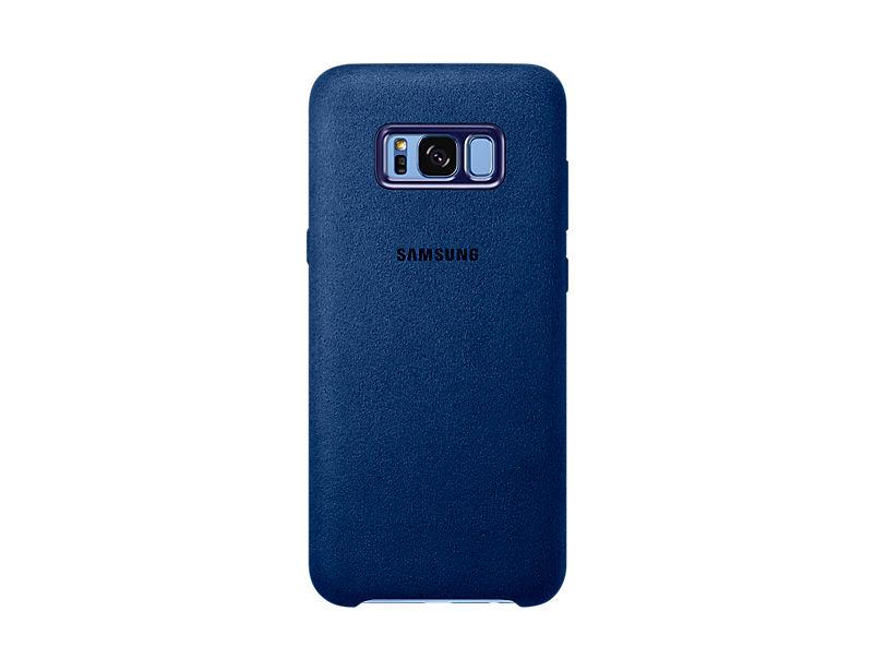 Чехол (клип-кейс) SAMSUNG Alcantara Cover, для Samsung Galaxy S8+, голубой [ef-xg955alegru]