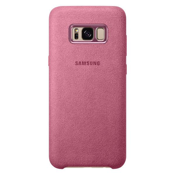 Чехол (клип-кейс) SAMSUNG Alcantara Cover, для Samsung Galaxy S8+, розовый [ef-xg955apegru]