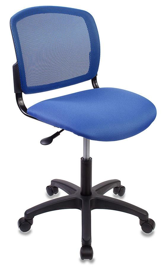 Кресло БЮРОКРАТ CH-1296, на колесиках, ткань, синий [ch-1296nx/blue]