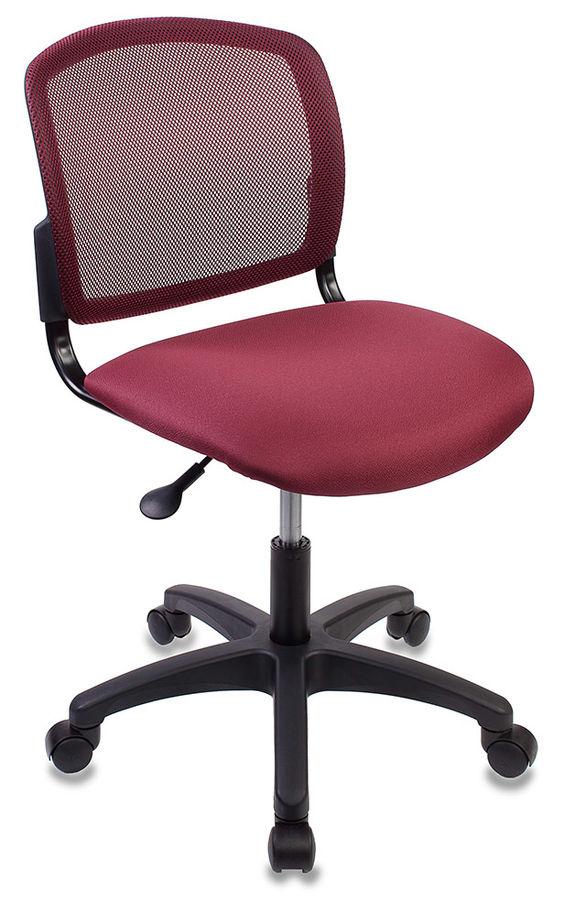 Кресло БЮРОКРАТ CH-1296, на колесиках, ткань, бордовый [ch-1296nx/cherry]