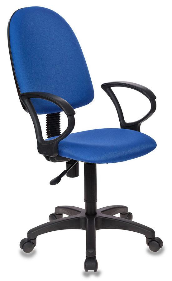 Кресло БЮРОКРАТ CH-1300, на колесиках, ткань, темно-синий [ch-1300/blue]