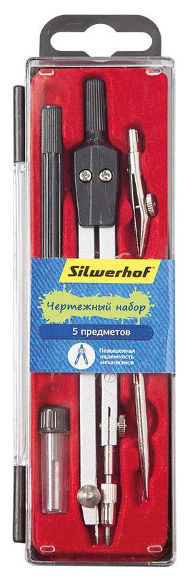 Готовальня Silwerhof 540114 металл 11см в компл.:5 предметов