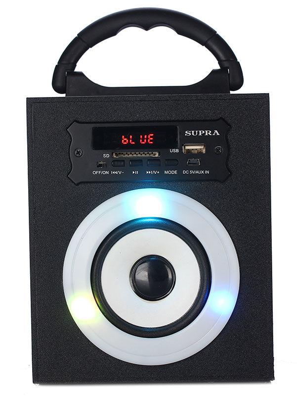 Аудиомагнитола SUPRA BTS-550,  черный