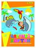 Картон цветной Silwerhof 918101-24/1 10цв./10л. A4 Дельфины 230г/м2 1диз. обл.мел.картон папка вид 1