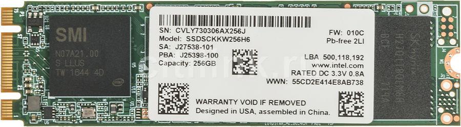 SSD накопитель INTEL 540s Series SSDSCKKW256H6X1 256Гб, M.2 2280, SATA III [ssdsckkw256h6x1 950892]