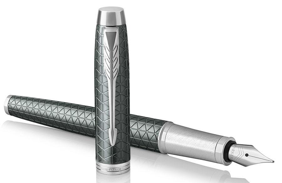 Ручка перьевая Parker IM Premium F323 (1931640) Green CT F сталь нержавеющая подар.кор.