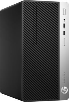 Компьютер  HP ProDesk 400 G4,  Intel  Pentium  G4560,  DDR4 4Гб, 500Гб,  Intel HD Graphics 610,  DVD-RW,  Windows 10 Professional,  черный [1ey20ea]