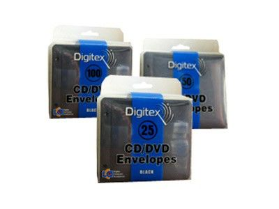 Конверт DIGITEX DCAEB-050-PP, 50шт., черный