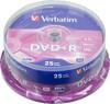 Оптический диск DVD+R VERBATIM 4.7Гб 16x, 25шт., cake box [43500] вид 1