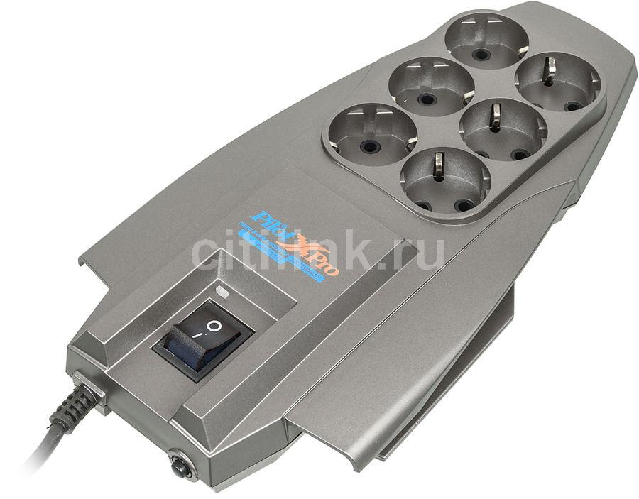 Сетевой фильтр PILOT X-Pro, 1.8м, серый