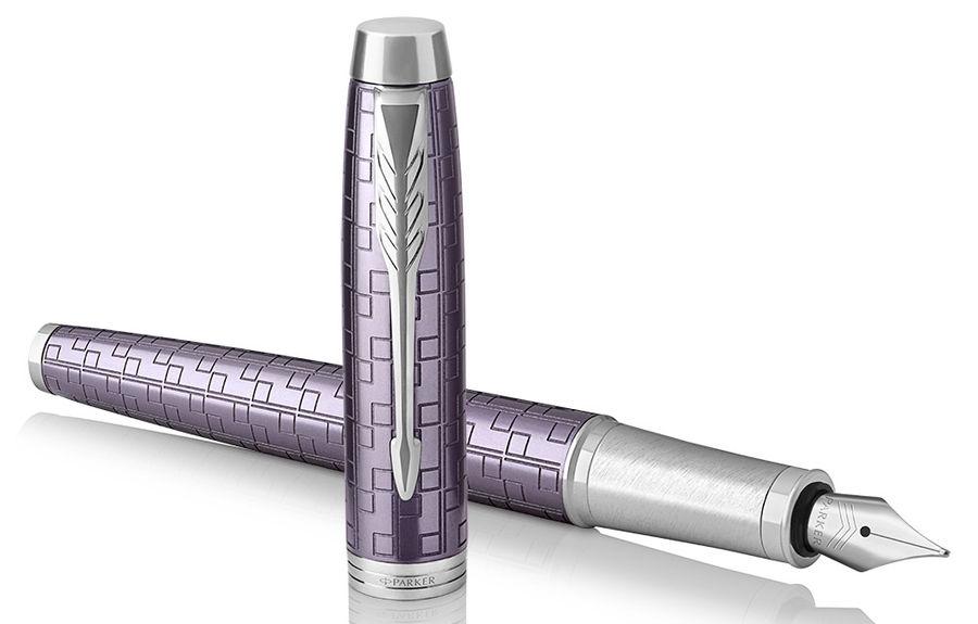 Ручка перьевая Parker IM Premium F324 (1931636) Dark Violet CT F сталь нержавеющая подар.кор.