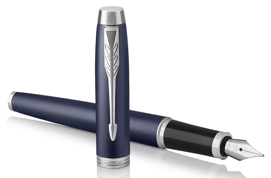 Ручка перьевая Parker IM Core F321 (1931647) Matte Blue CT F сталь нержавеющая подар.кор.