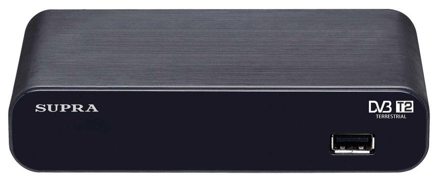 Ресивер DVB-T2 SUPRA SDT-93,  черный