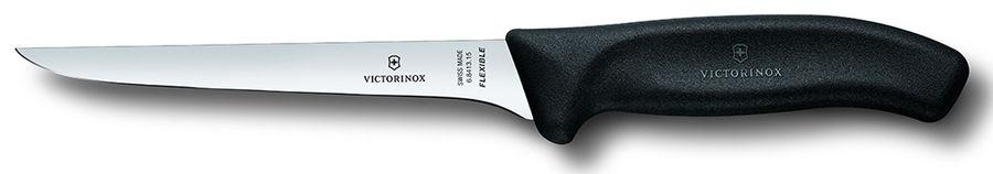 Нож кухонный Victorinox Swiss Classic (6.8413.15B) стальной обвалочный лезв.150мм черный блистер
