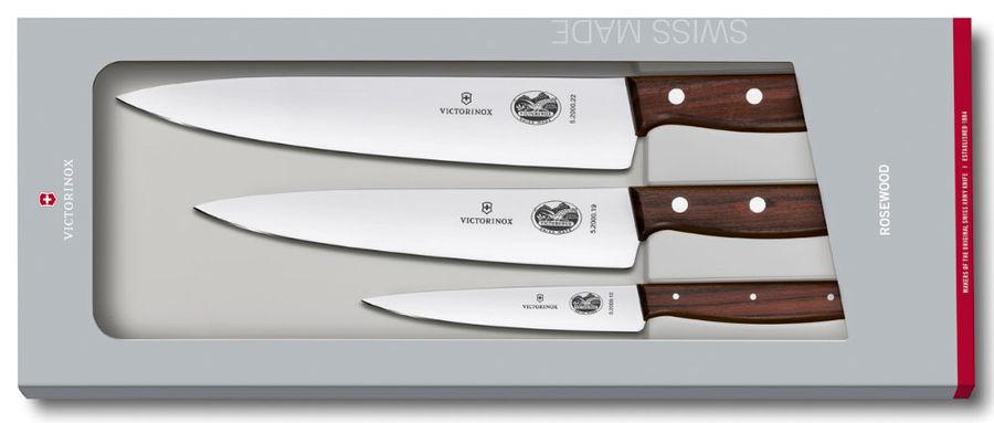 Набор ножей Victorinox Wood (5.1050.3G) стальной лезв.220мм подар.коробка