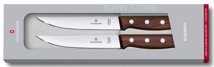 Набор ножей Victorinox Wood (5.1120.2G) стальной для стейка лезв.140мм дерево подар.коробка